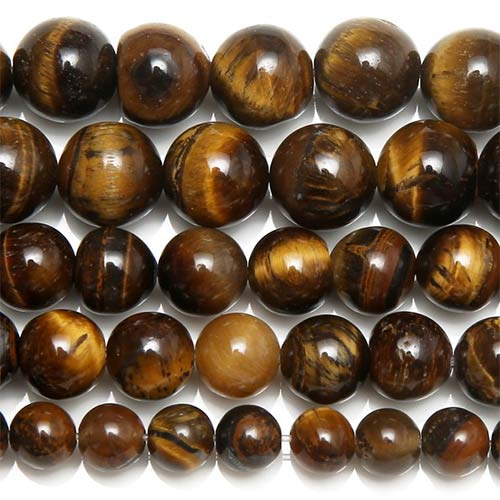 Brown Gold Tiger Eye Agates 10mm