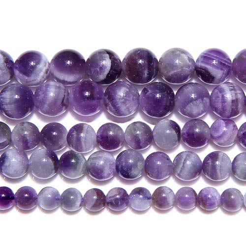Dream Lace Purple Amethysts Crystals 10mm Beads