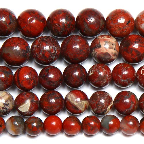 Red Brecciated Jasper Beads