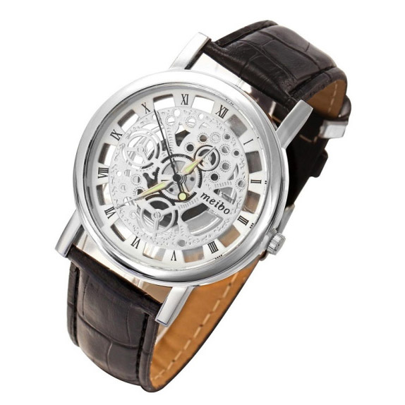 Dgjud Skeleton Hollow Watch Silver