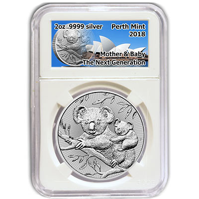 2018 Australia 2 oz Silver The Next Generation - Koala uncirculated