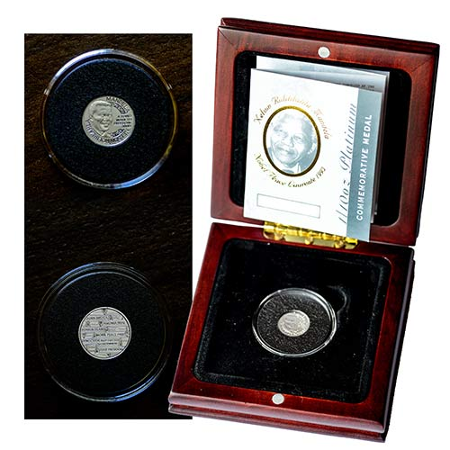 2008 Mandela 1/10oz Platinum 90th Birthday Medal