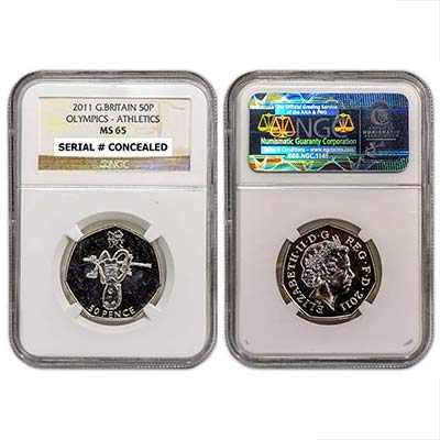2011 GB 50p NGC-MS65 Athletics