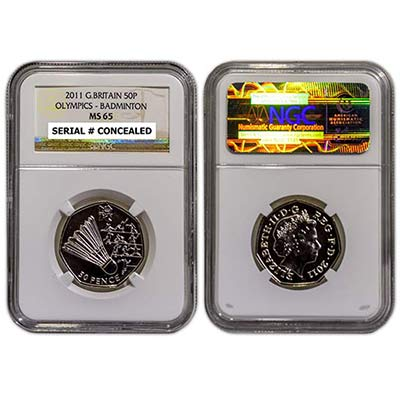 2011 GB 50p NGC-MS65 badminton