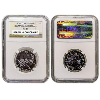 2011 GB 50p NGC-MS65 Basketball