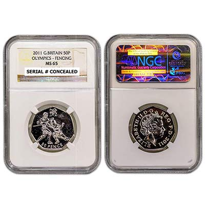 2011 GB 50p NGC-MS65 Fencing