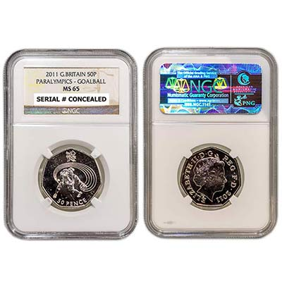 2011 GB 50p NGC-MS65 Goalball