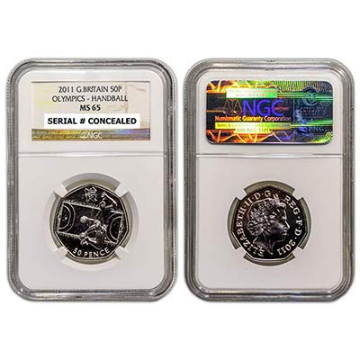 2011 GB 50p NGC-MS65 Handball