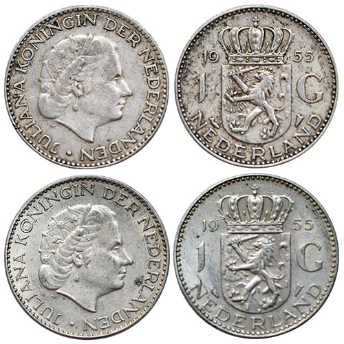 1955 Netherlands 1 Gulden