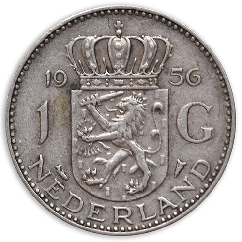 1956 Netherlands 1 Gulden