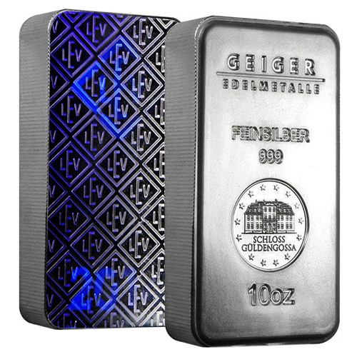 Geiger 10oz Pure Silver Bar